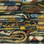 Fabrications - colored pencil drawing by Jeffrey Baisden