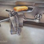 Lifebuoy - colored pencil drawing by Jeffrey Baisden