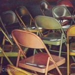 Open Seating - colored pencil drawing by Jeffrey Baisden