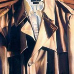 White Collar - colored pencil drawing by Jeffrey Baisden